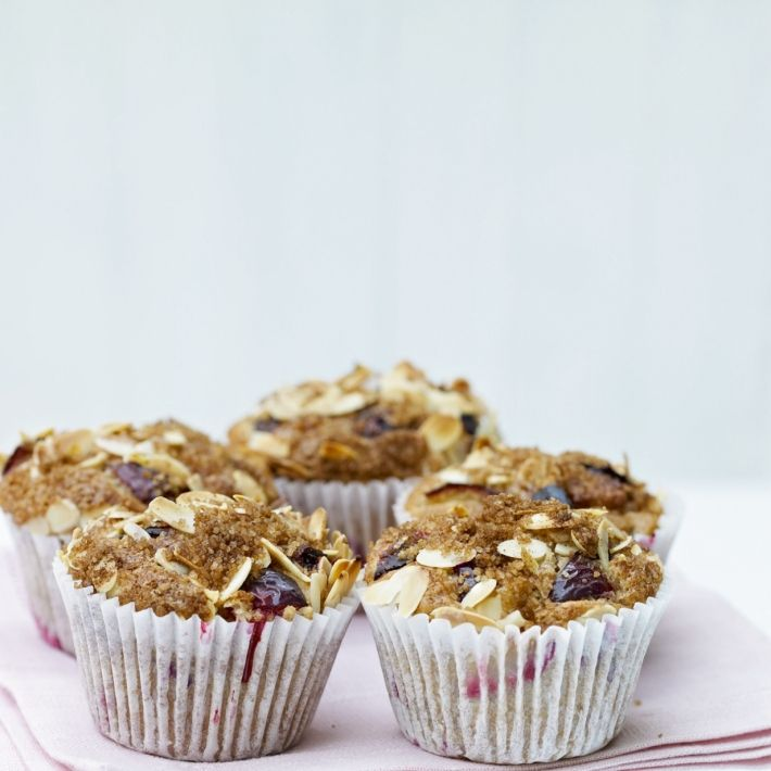 Damson (or Plum) and Cinnamon Muffins