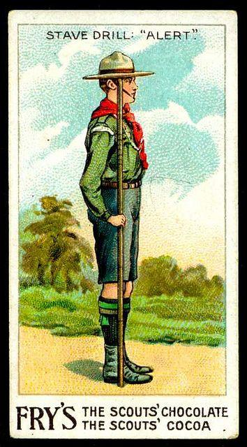 Trade Card - Boy Scout - Alert by cigcardpix, via Flickr