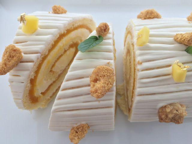 I Dolci di Pinella: Biscuit roulé al mango e crema di panna cotta al rum