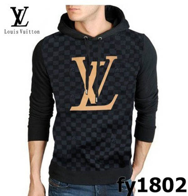 596ef22f1ccb Louis Vuitton Hoody Damier Long Sleeve Men sweater black Louis Vuitton  Hoody…