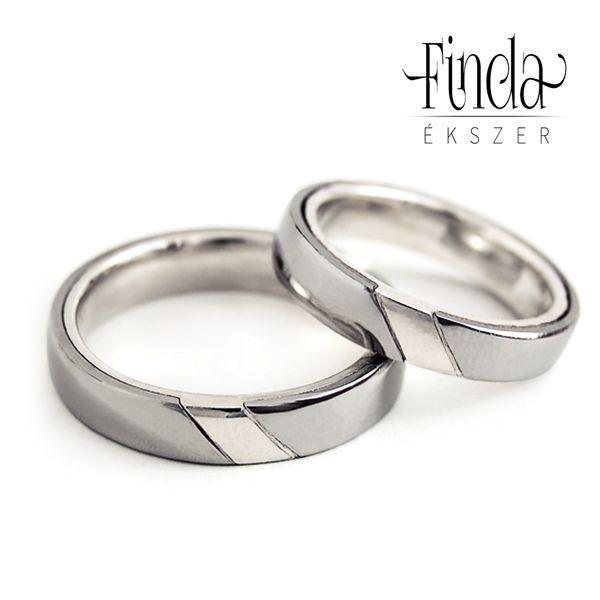 ezüst és nemesacél karikagyűrű