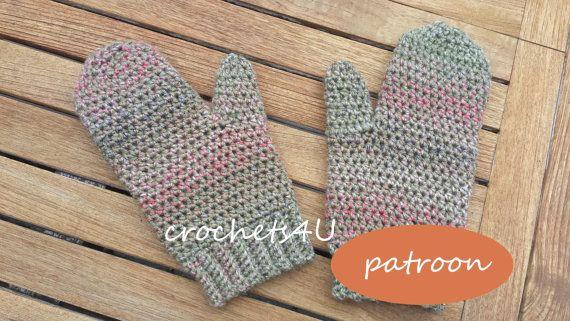 patroon gehaakte wanten / Nederlands patroon van Crochets4U op Etsy #wanten #haken