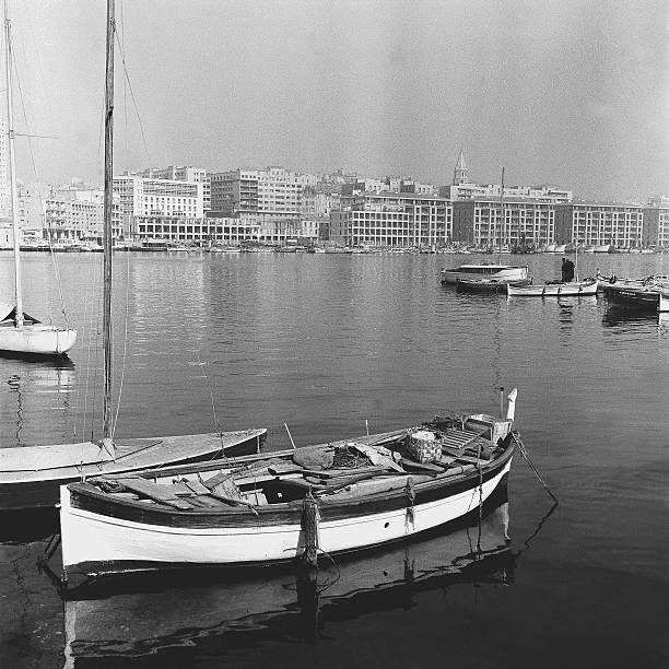 Marseille 1956. Le Vieux Port. Getty images | Vieux port, Marseille et Vieux