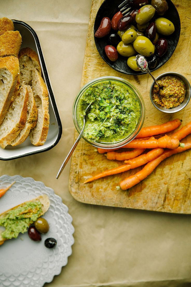 """{new one!} mustard roasted broccoli """"rillettes""""/pâté with leeks + lemon via the first mess"""