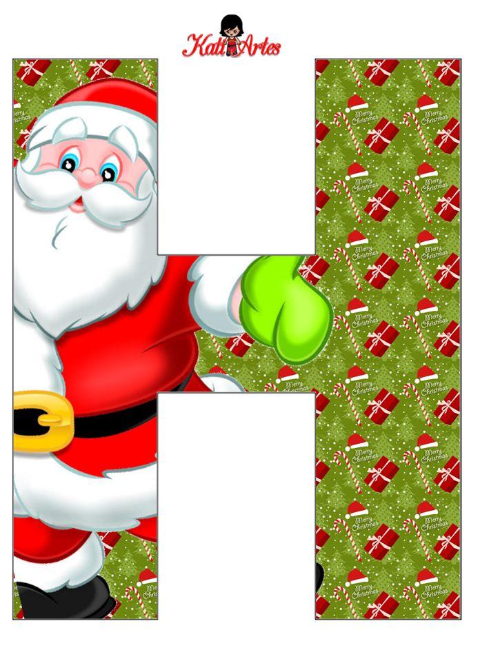 884 best images about letras y numeros on pinterest - Alphabet noel ...