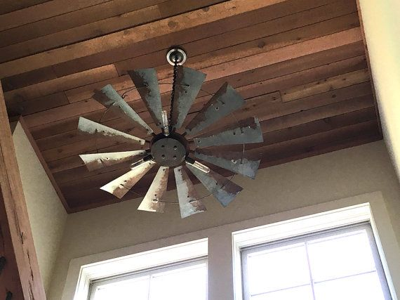 Windmill light fixture with rustic finish by SouthernRestoration
