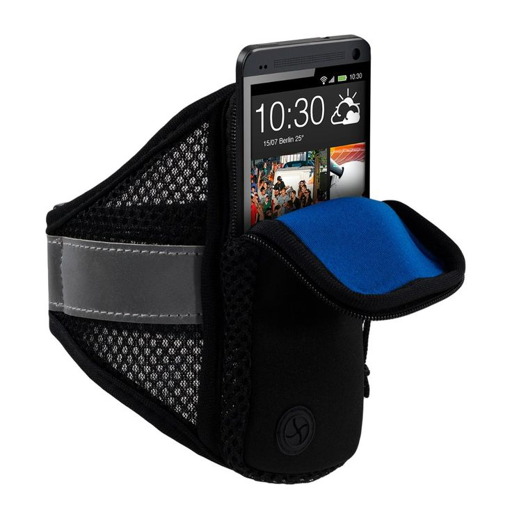 kwmobile Sports jogging armband for Smartphones with zipper and convenient Velcro fastener in black. Now you can take your Smartphones with you when you exercise or jog, with one of our sports armbands. The practical zipper keeps the Smartphones safely in the bag and protects it from dirt and rain. For the Smartphones. Inner dimensions: approx. 16,5 x 8,0 cm. Compatible for example, with: Alcatel Idol: Idol 4 // Amazon Fire: Phone // Apple iPhone: 6 / 6S, 7 // Blackberry: DTEK50 // BQ...