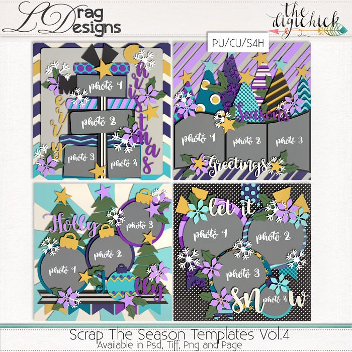 Scrap The Season Templates Vol 4 by LDrag Designs The Digichick