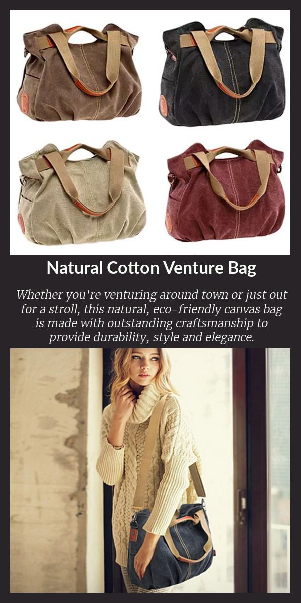 Whether you're venturing around town or just out for a stroll, this natural canvas bag is made with outstanding craftsmanship to provide durability, style and elegance. The natural cotton canvas is breathable, eco-friendly, and all natural.