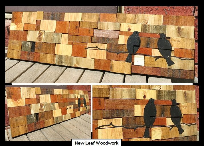 #pallet art. Salvaged timbers made into unique artworks :)   www.newleafwoodwork.com.au