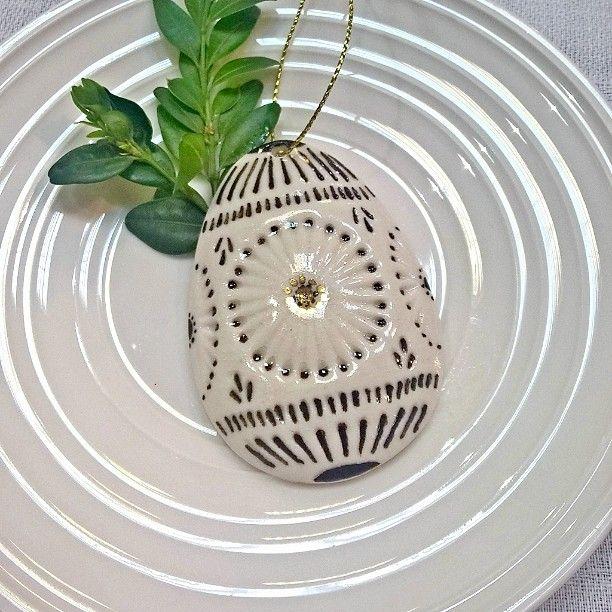 Porcelain Easter egg , handmade