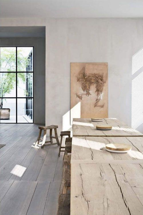 rustic table, Belgian architect Vincent Van Duysen's home in Antwerp | Manolo Yllera