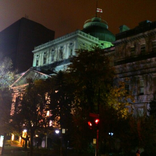 Law courts building in old Montreal