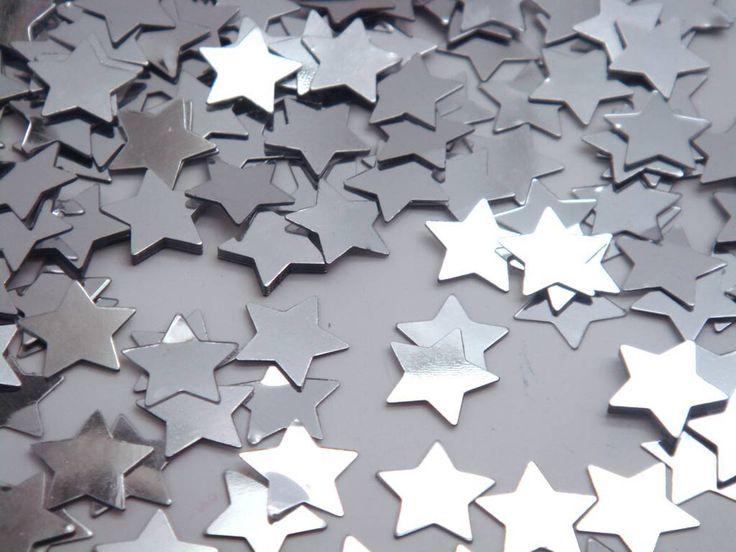 2 packs Wedding star Confetti sprinkles silver stars