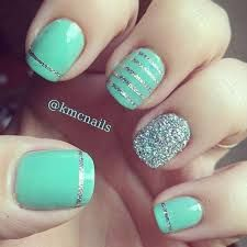 mint nail art - Google Search
