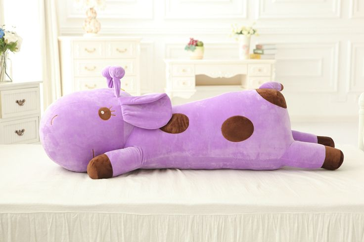 Stuffed Animal 80cm Deer Plush Toys Large Plush Pillow 5 color with Good PP Cotton Giraffe Plush Birthday Gift