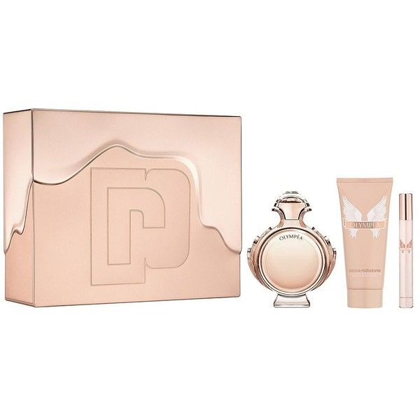 Paco Rabanne Olympea Fragrance Set ($101) ❤ liked on Polyvore featuring beauty products, fragrance, floral fragrances, mist perfume, eau de perfume, paco rabanne and edp perfume