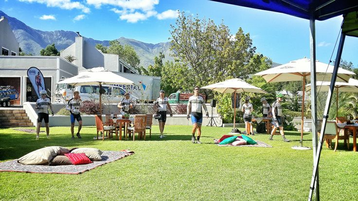 Chill out spots on the lawn — at Schoone Oordt Country House.  #Swellendam @Challenged Athletes Foundation