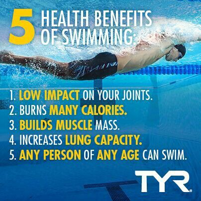 One of the best things about swimming is that it's a low-impact activity! Like to take a rest from running? This could be the answer . . . #health #fitness #exercise #swimming