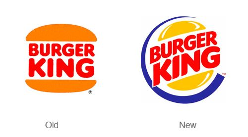 Burger King - Old and new #food #design #branding