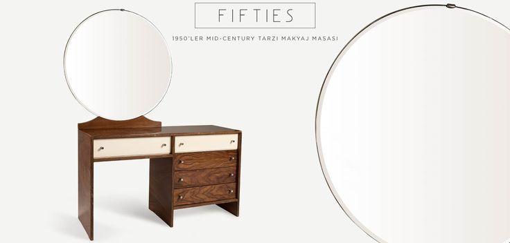 FIFTIES 1950ler MidCentury tarzı Aynalı Makyaj Masası | 1950s MidCentury style makeup desk
