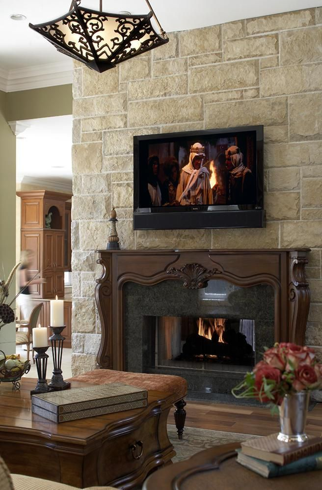 Stone fireplace designs with tv above | OldSlide.Com ...