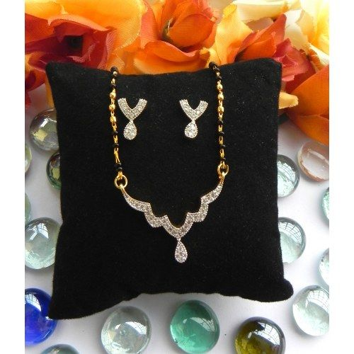 CZ Designer Mangalsutra With Earrings 23
