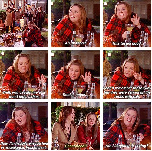 """When she was """"enscotched"""". 