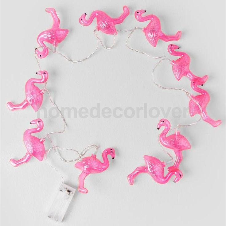 Красный Фламинго СВЕТОДИОДНЫЕ Лампы Строка Свет Батареи Opetated Главная Партия Декор 1.5 м купить на AliExpress
