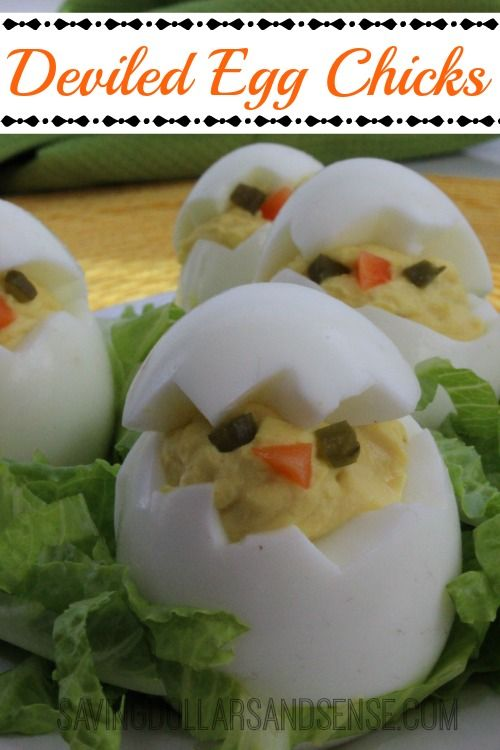 These Deviled Egg Chicks are sure to have everyone talking this Easter.