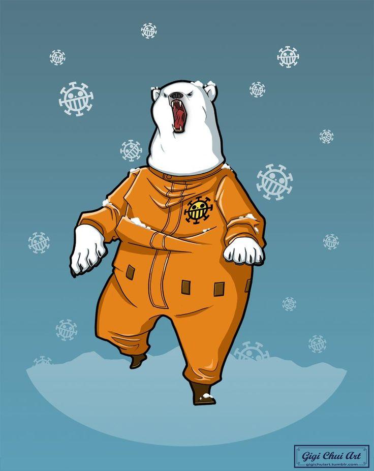 #Bepo #onepiece #heart pirates #animate #bear #Polarbear #fanart #illustration #drawing