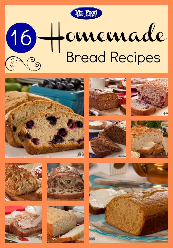 203 best reader favorite recipes images on pinterest mr food 16 homemade bread recipes from banana bread to cherry nut bread to strawberry bread to forumfinder Choice Image
