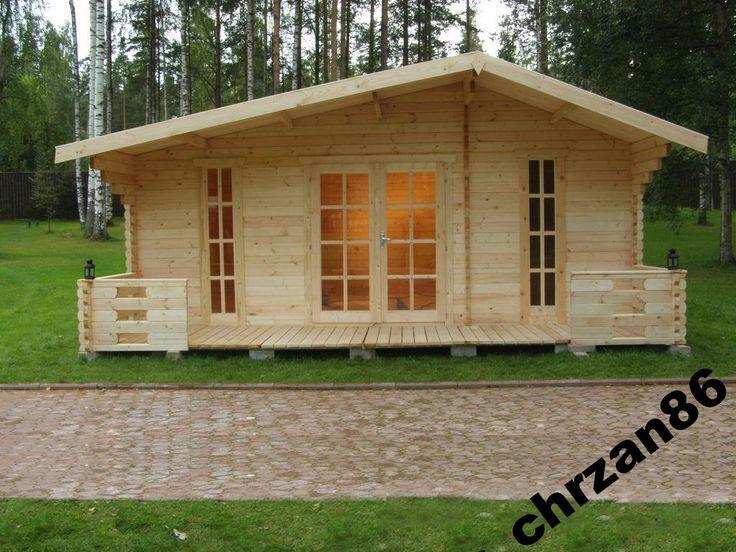 25m2  Domek drewniany letniskowy ogrodowy  DE LUX