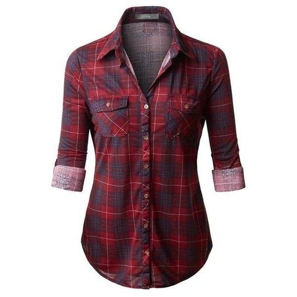 (pre-order) Red Plaid Button Down Shirt ❤ liked on Polyvore featuring tops, red top, plaid shirts, plaid button down shirt, plaid button up shirts and summer tops