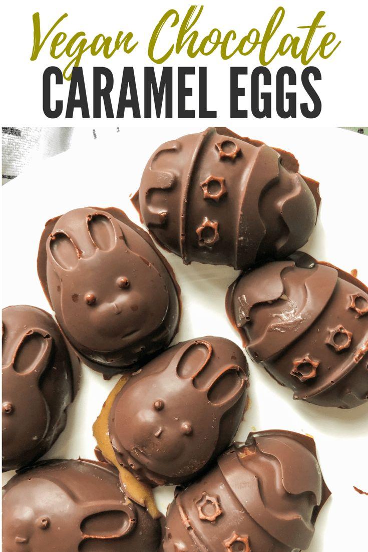 Homemade Vegan Chocolate Caramel Eggs for Easter