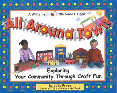 Explores the library, police station, park, post office, and other parts of a neighborhood through craft activities such as making a butterfly book bag, paper airplane, puppy puppet, and more.