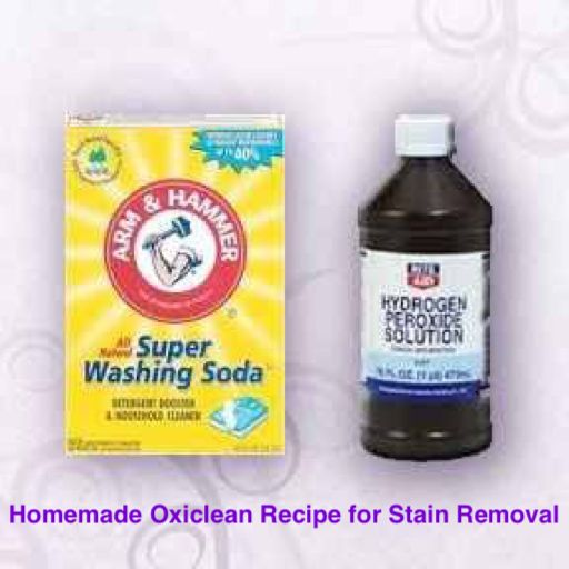 Homemade Oxiclean Recipe For Stain Removal 1 Cup Water