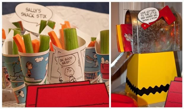Charlie Brown Christmas - cute snack containers