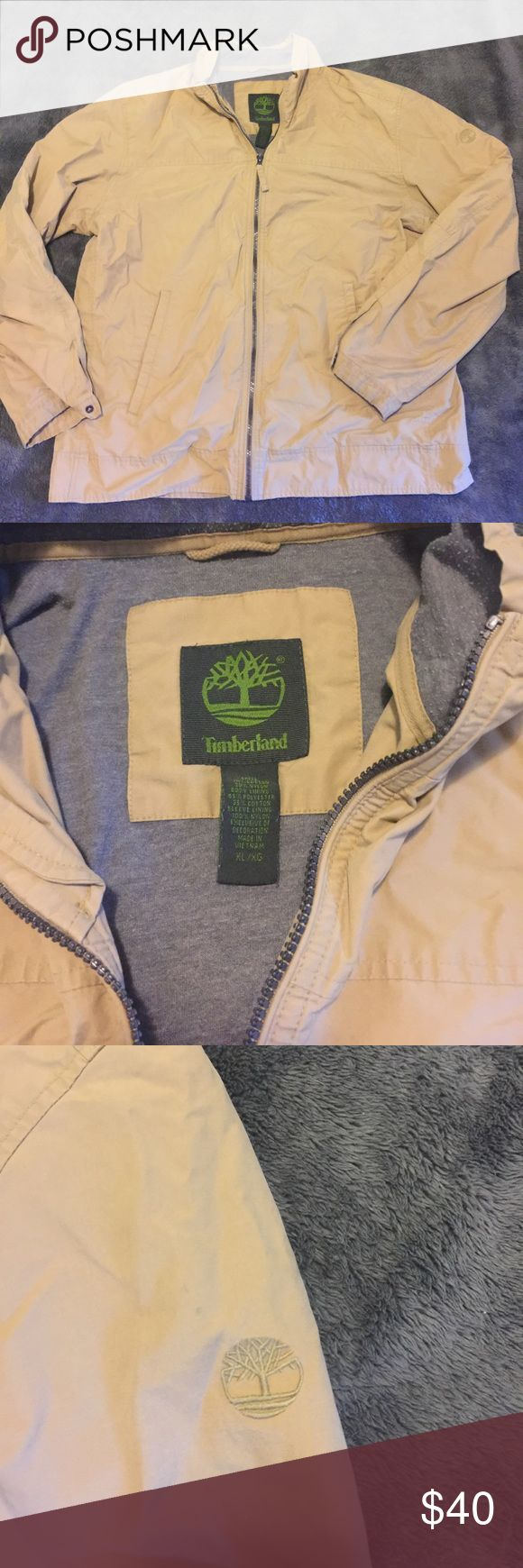 Timberland jacket. Men's XL Really nice tan Timberland jacket. Men's size XL. Great condition. Too small for me. ☹️🌲🌲 Timberland Jackets & Coats Lightweight & Shirt Jackets