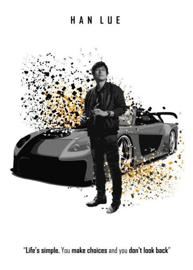 Fast And Furious Splatter Han Lue Displate Artwork By Artist Xavier Vieira Part Of A 5 Piece Set Featuri Fast And Furious Sports Cars Expensive Sports Cars