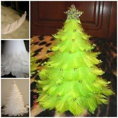 diy christmas | feather-christmas-tree-DIY | Flickr - Photo Sharing!