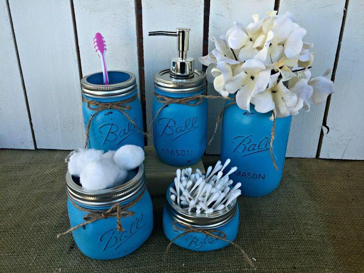 Bathroom Vanity Jars 44 best painted mason jars images on pinterest | painted mason
