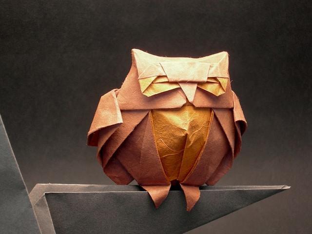 Paper Art - Owl.
