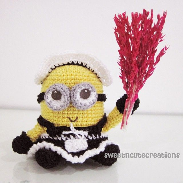 """sweetncutecreations: """"Day 4 is all about minions! I just finished watching the new minions movie trailer and I'm super duper excited to watch the movie this coming 2015. Little minion in a french maid..."""