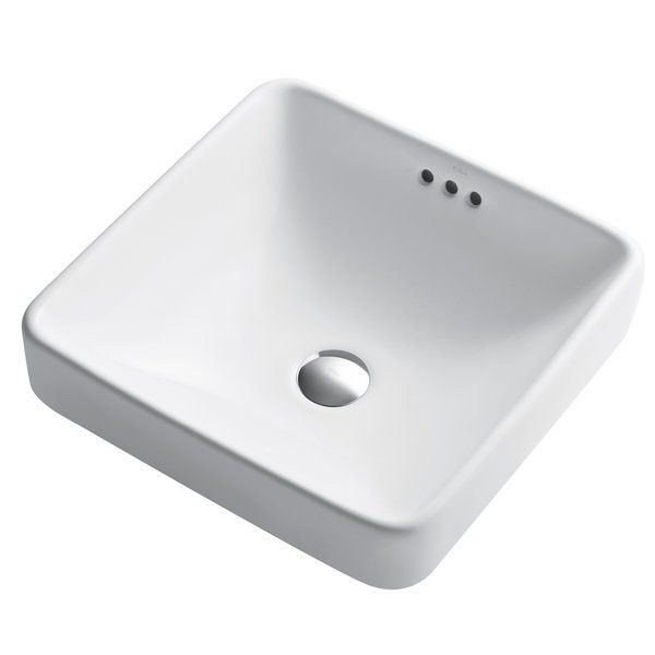 Elavo Square Drop In Bathroom Sink With Overflow Drop In