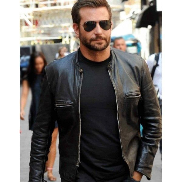 a2798b474 Men leather jacket, New Bradley cooper motorcycle jacket, Men black ...