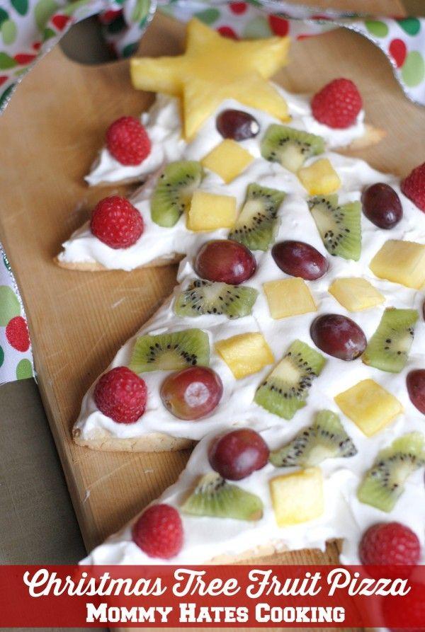 Christmas Tree Fruit Pizza #SweetSwaps #ad