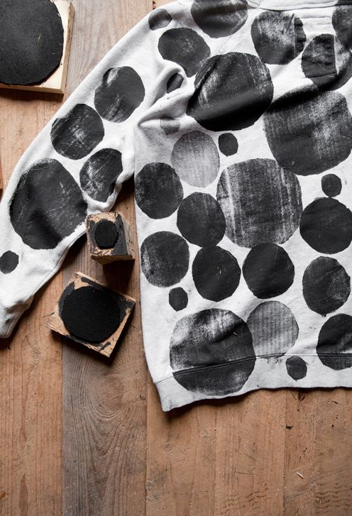 DIY block printed sweater | Fine Little Day
