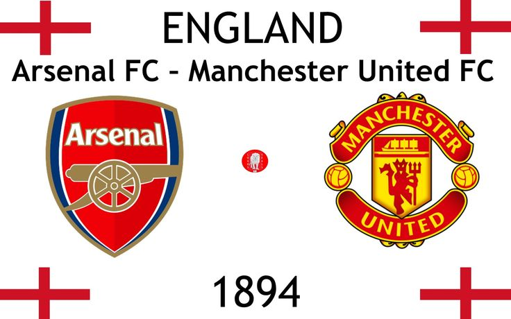1894, England (1st Arsenal F.C. – Manchester United F.C.), Arsenal FC < > Manchester United Football Club #ArsenalFC #ManchesterUnitedFC #England (L22304)