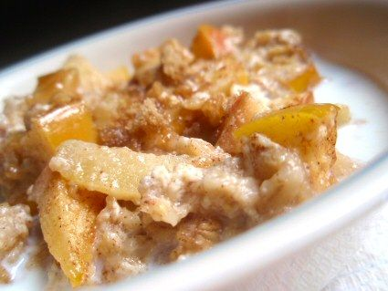 Easy Baked Apple Oatmeal 2 eggs 1/8 teaspoon salt 2 teaspoons cinnamon ...